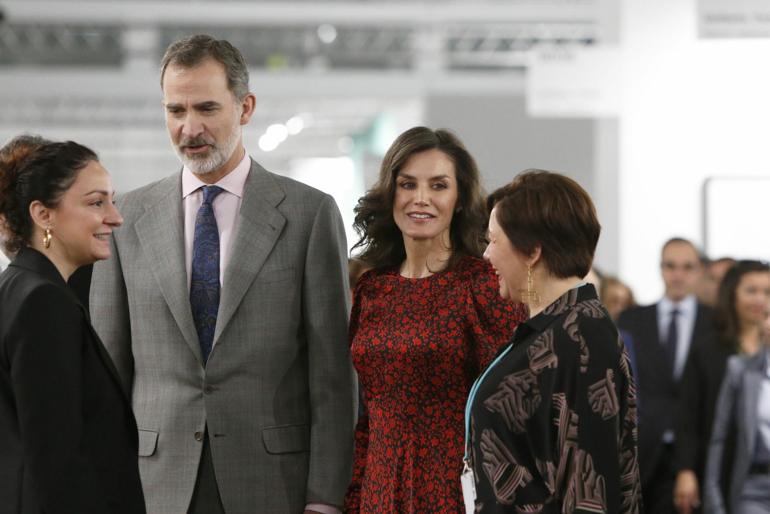 Els reis, atents a la inauguració d'ARCO   Europa Press