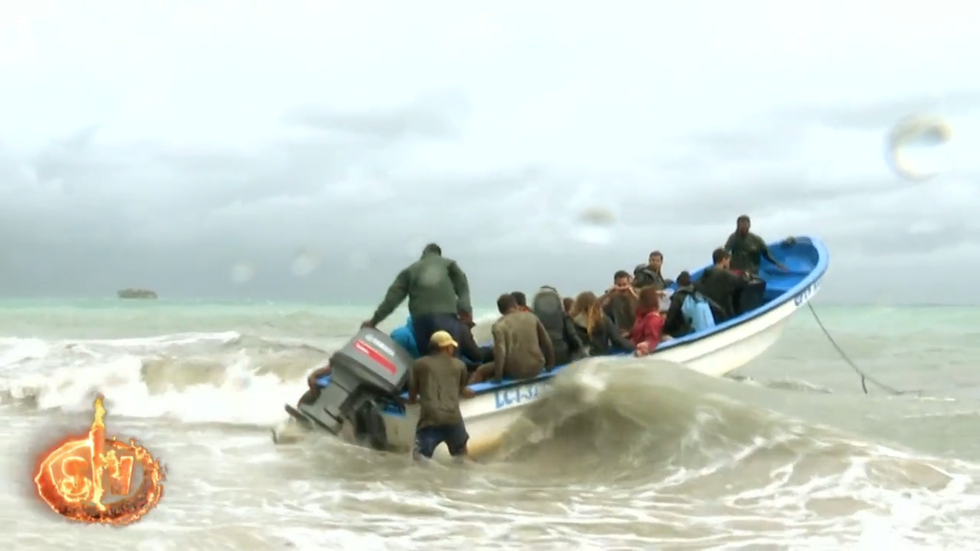 Els concursants de 'Supervivientes', evacuats  Telecinco