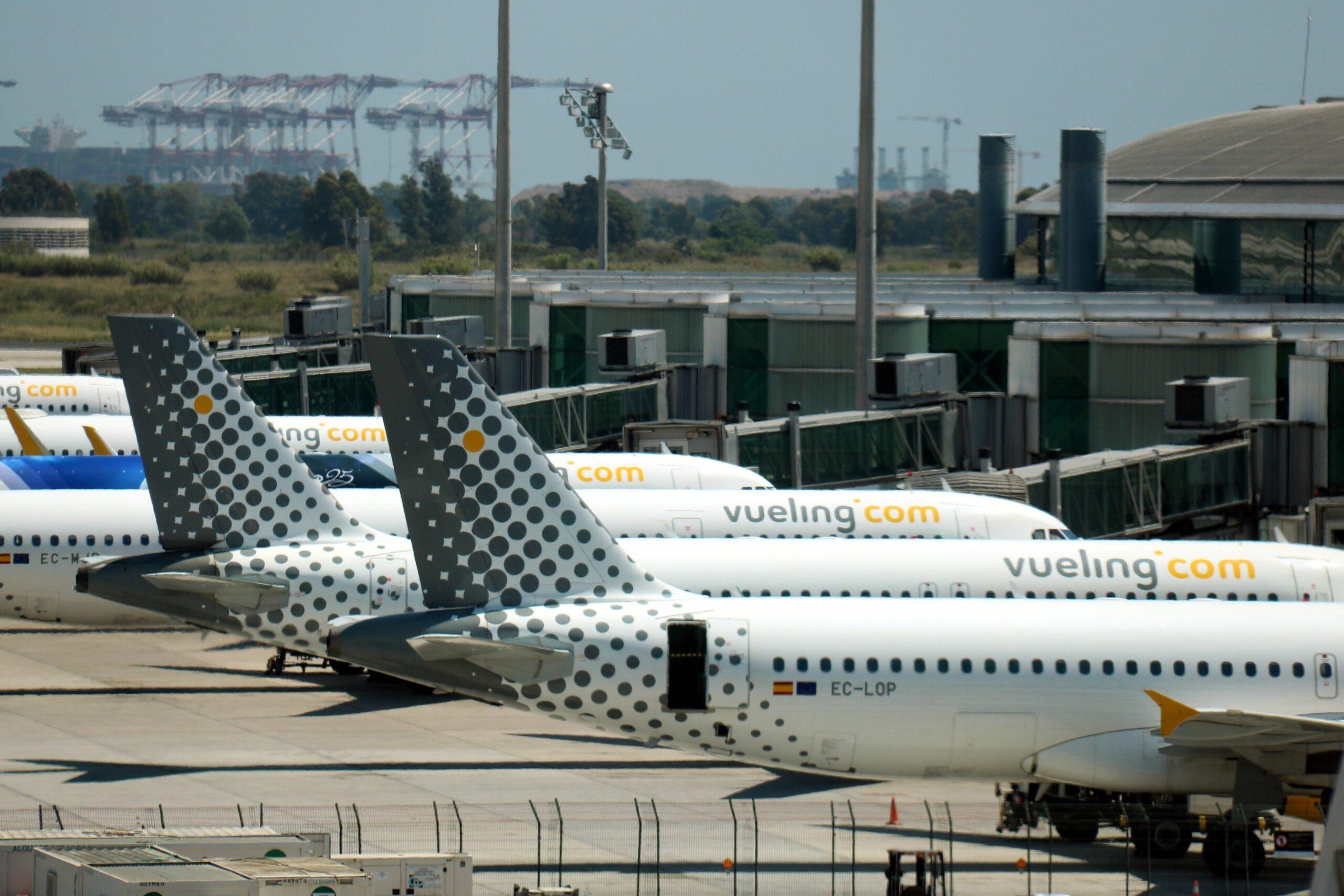 Alguns dels avions de Vueling (ACN)