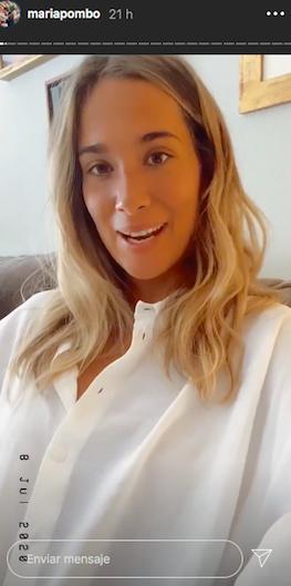 María Pombo comença el tractament   Instagram