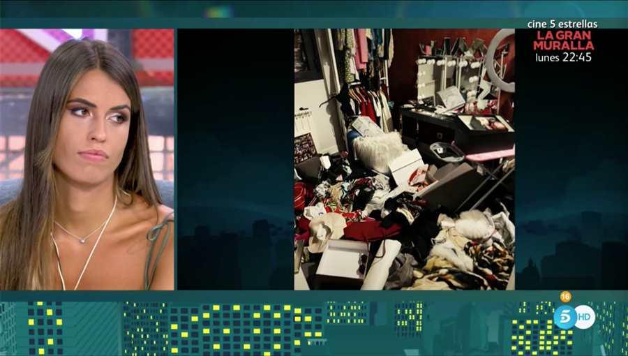 Sofía Suescun ensenya com van deixar la casa els lladres   Telecinco