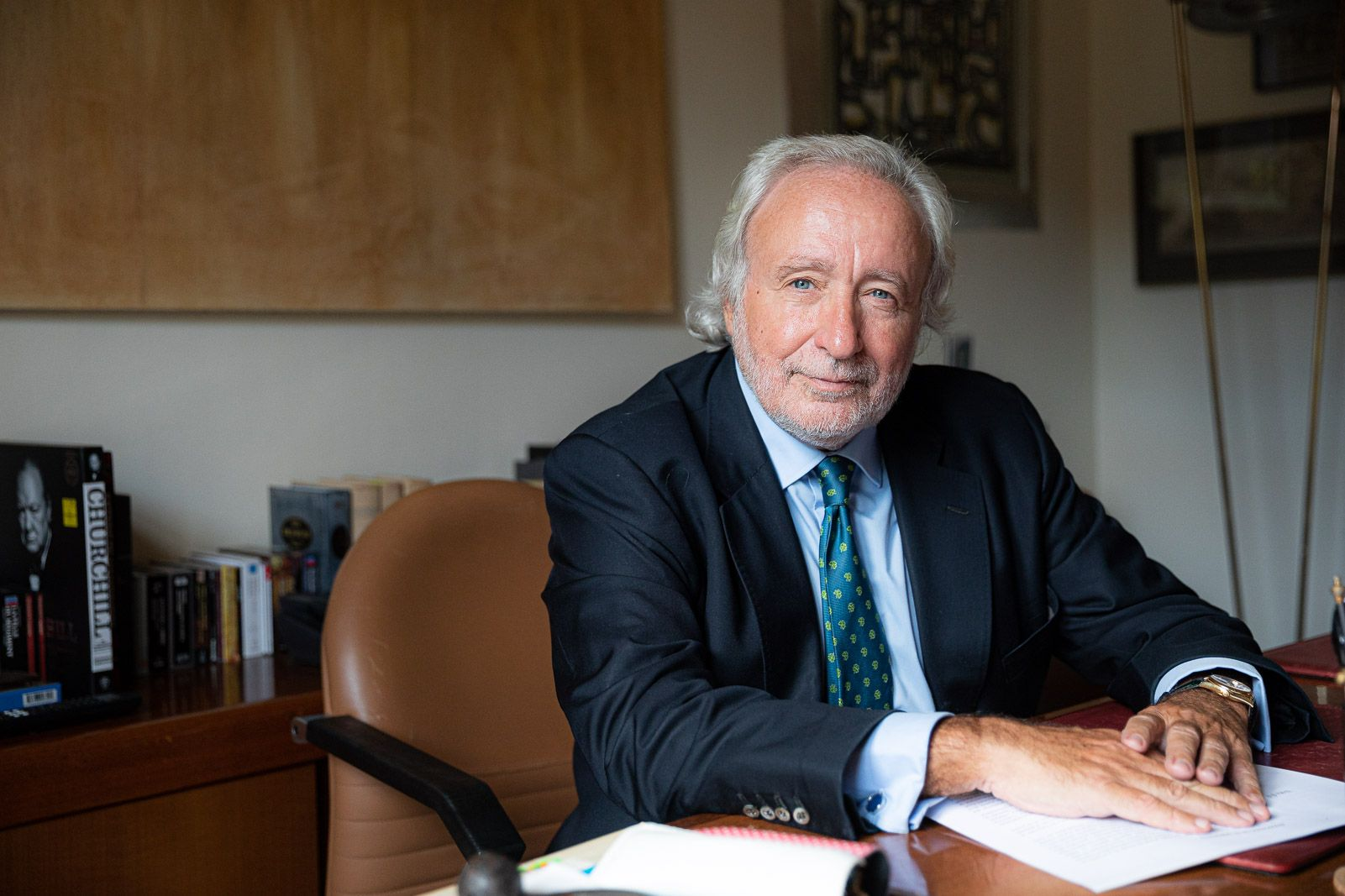 Antoni Fernández Teixidó, en un moment de l'entrevista