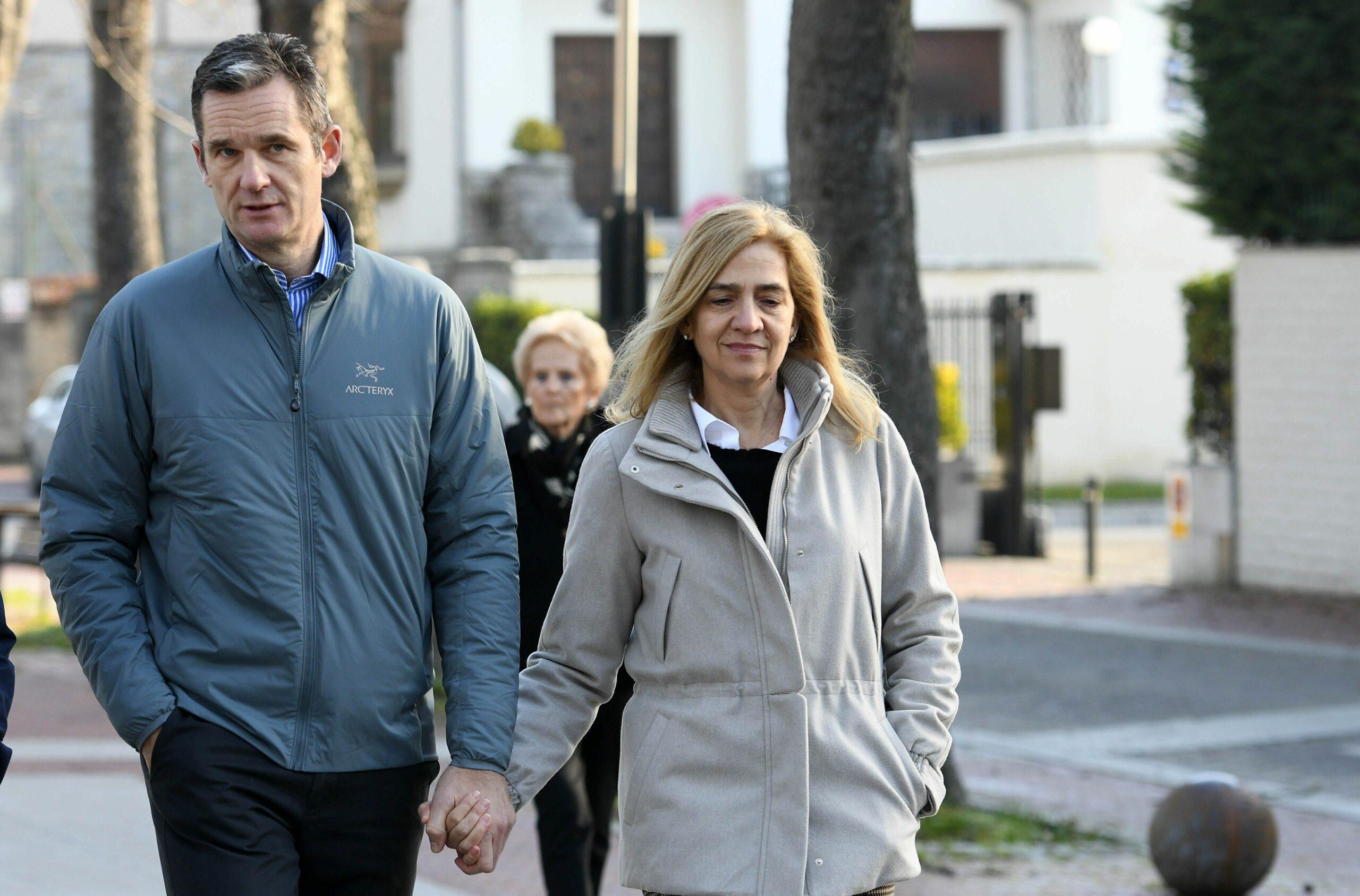 Iñaki Urdangarin i Cristina, a Vitòria   Europa Press