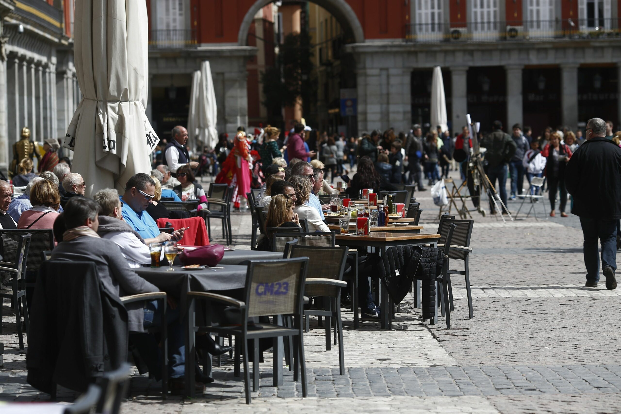 Una terrassa de la Plaza Mayor de Madrid