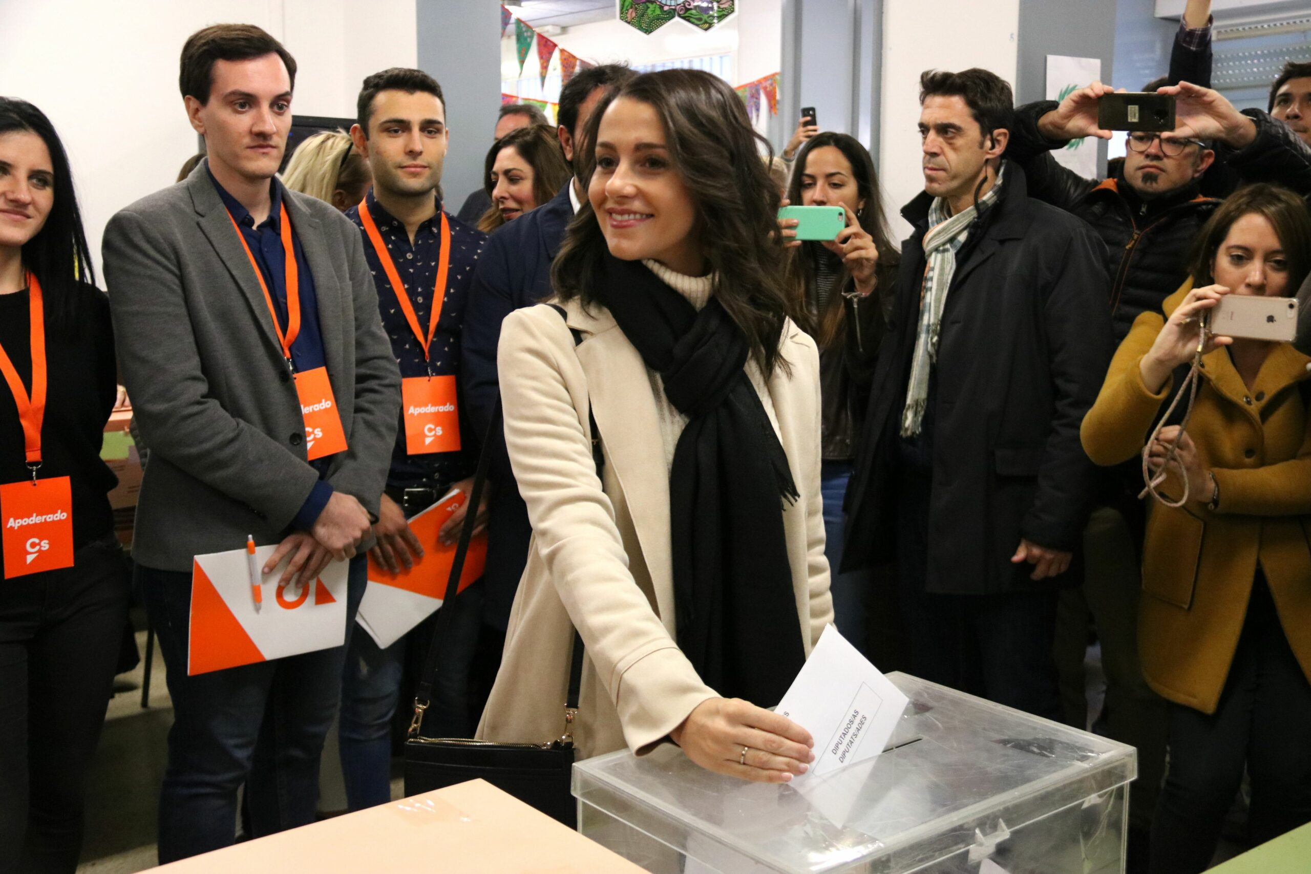 Inés Arrimadas votant