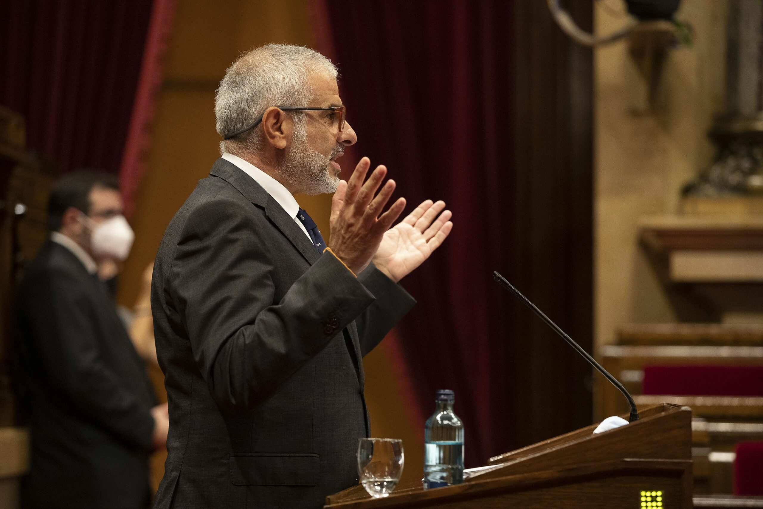 El portaveu de Cs, Carlos Carrizosa JORDI PLAY