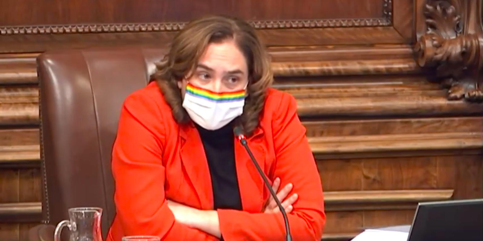L'alcaldessa Ada Colau al ple de novembre de 2020 / Youtube