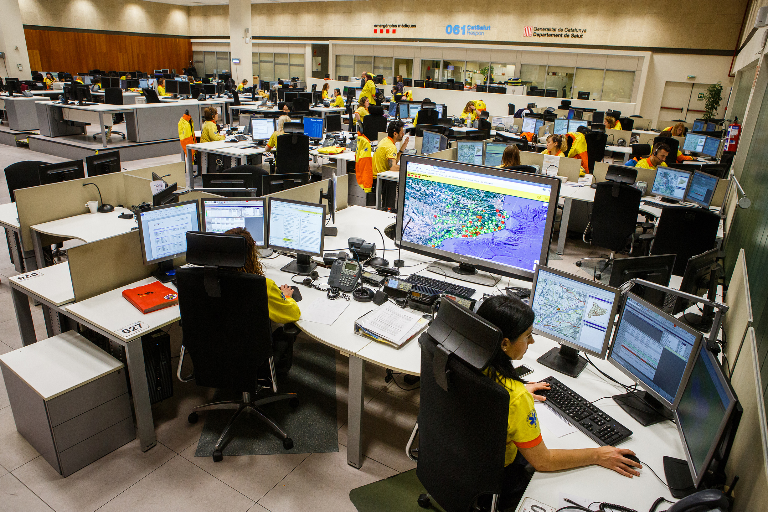 Imatge del centre de recepció de trucades del 061 CatSalut Respon / ACN