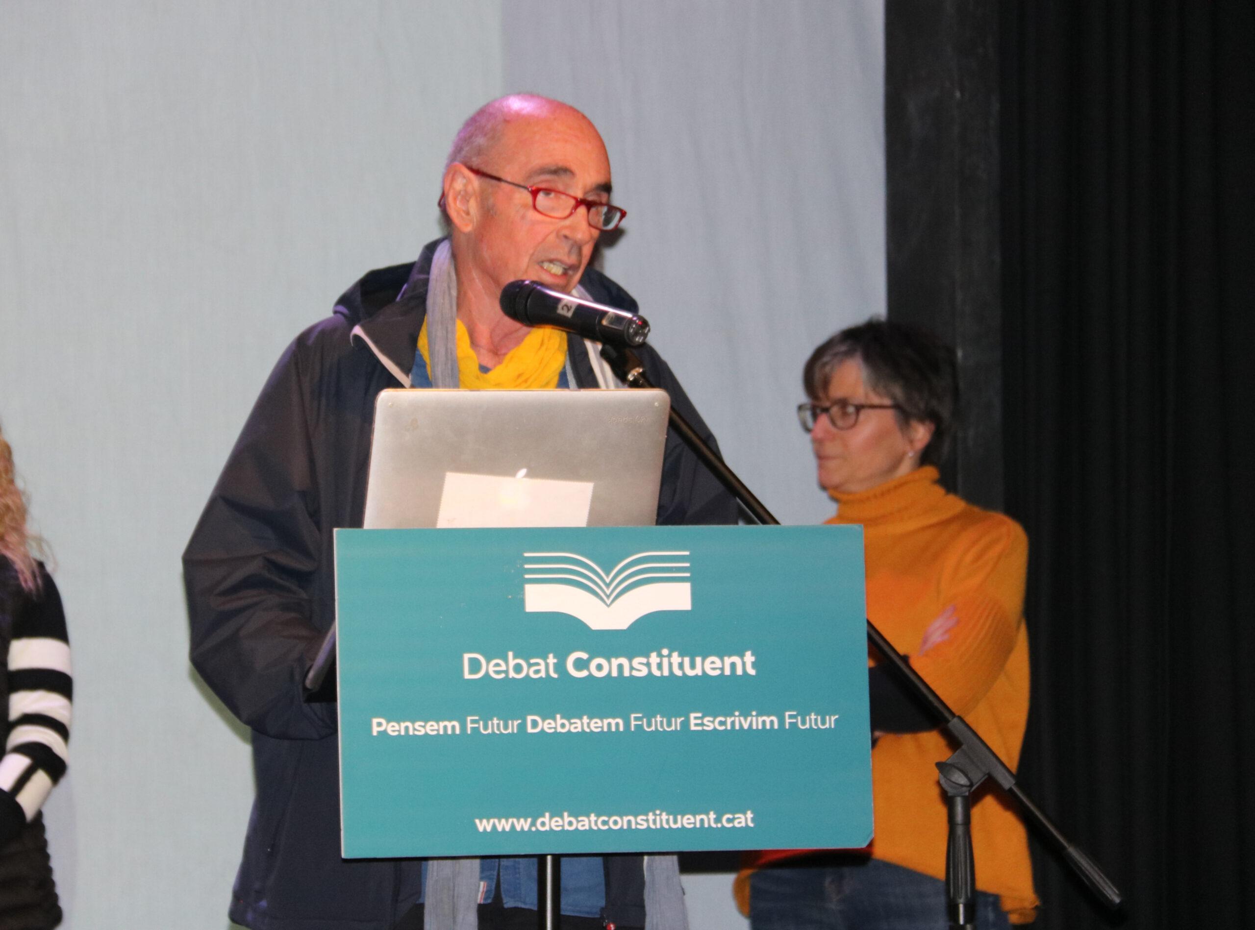 Lluís Llach durant una jornada del Debat Constituent | ACN