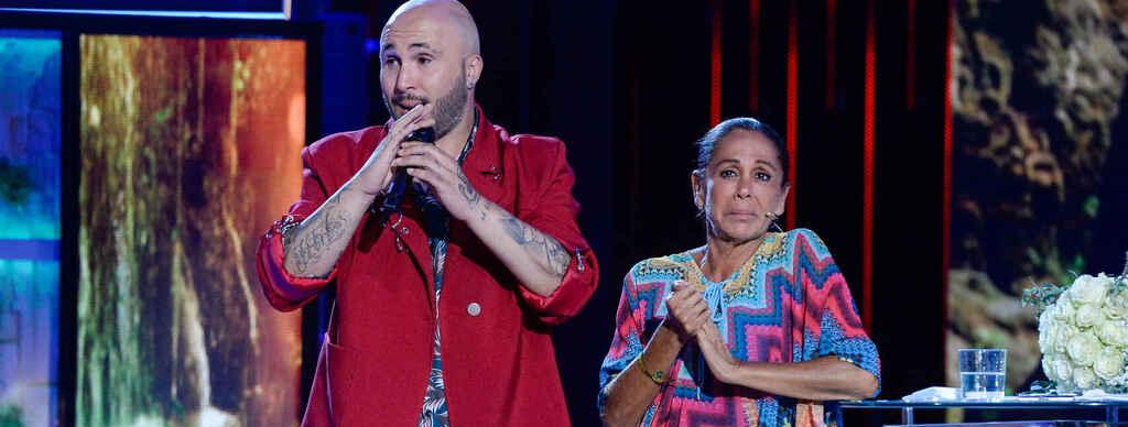 Kiko Rivera i Isabel Pantoja, junts en un plató de televisió / Telecinco