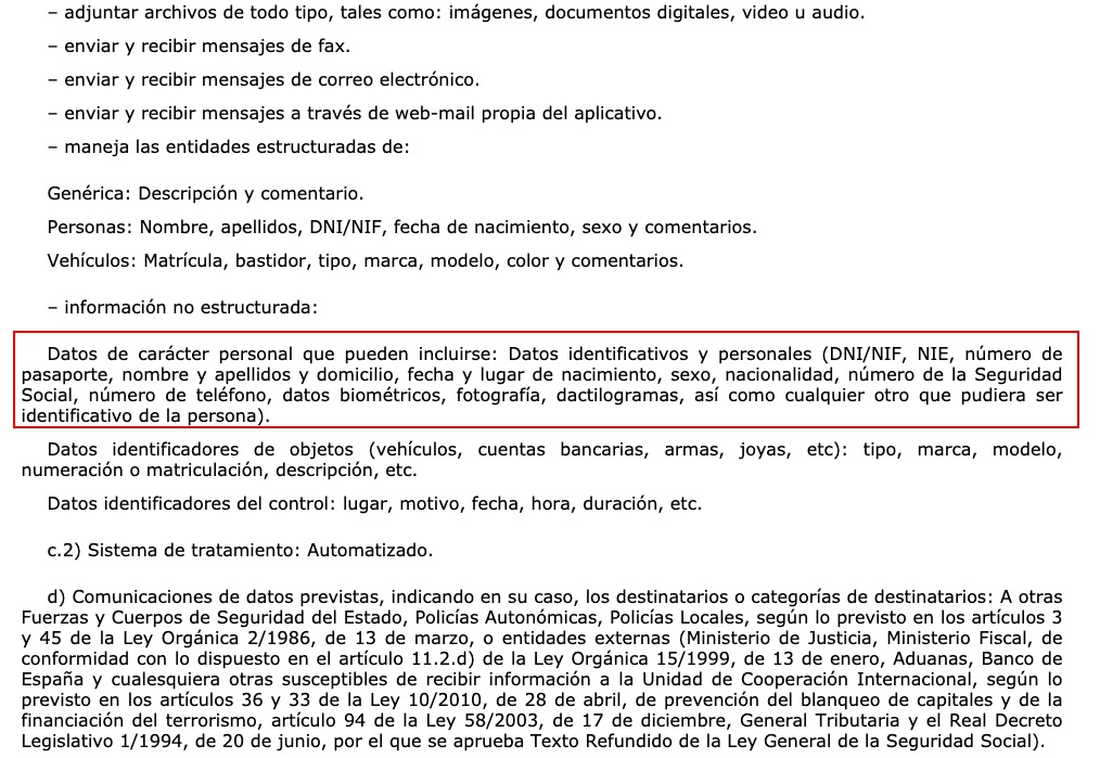 Part de l'ordre de funcionament del fitxer UCPI del CNP