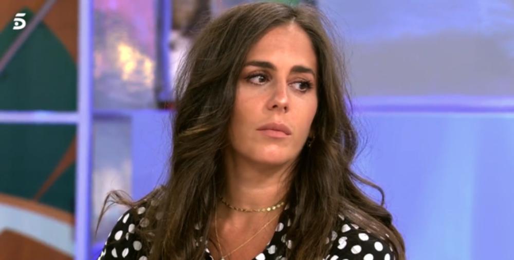 Anabel Pantoja, desanimada a plató / Telecinco