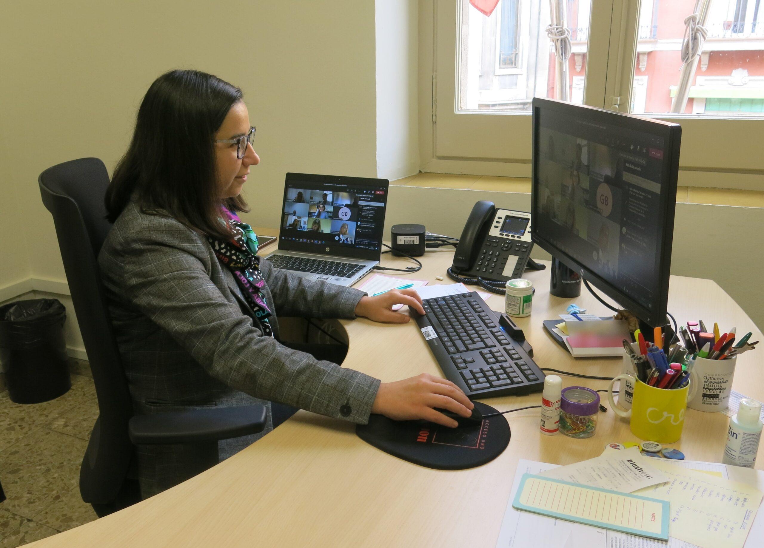 La tinenta d'alcalde i regidora de Govern Obert i Qualitat Democràtica i Institucional de la Paeria de Lleida, Jordina Freixanet | ACN