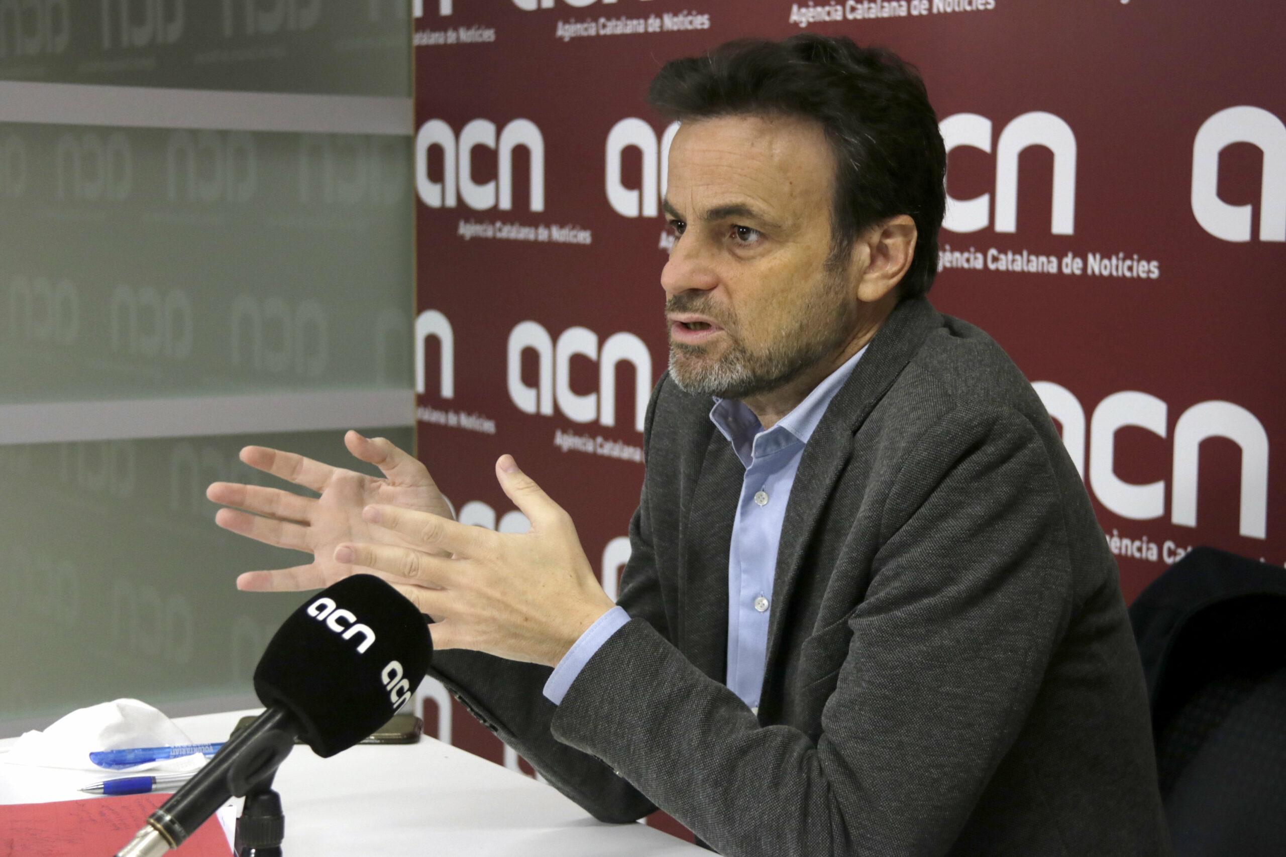 Jaume Asens durant una entrevista a l'ACN | ACN