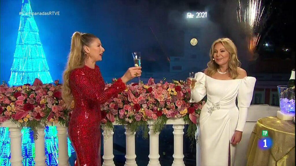 Anne Igartiburu i Ana Obregón van acomiadar l'any a TVE