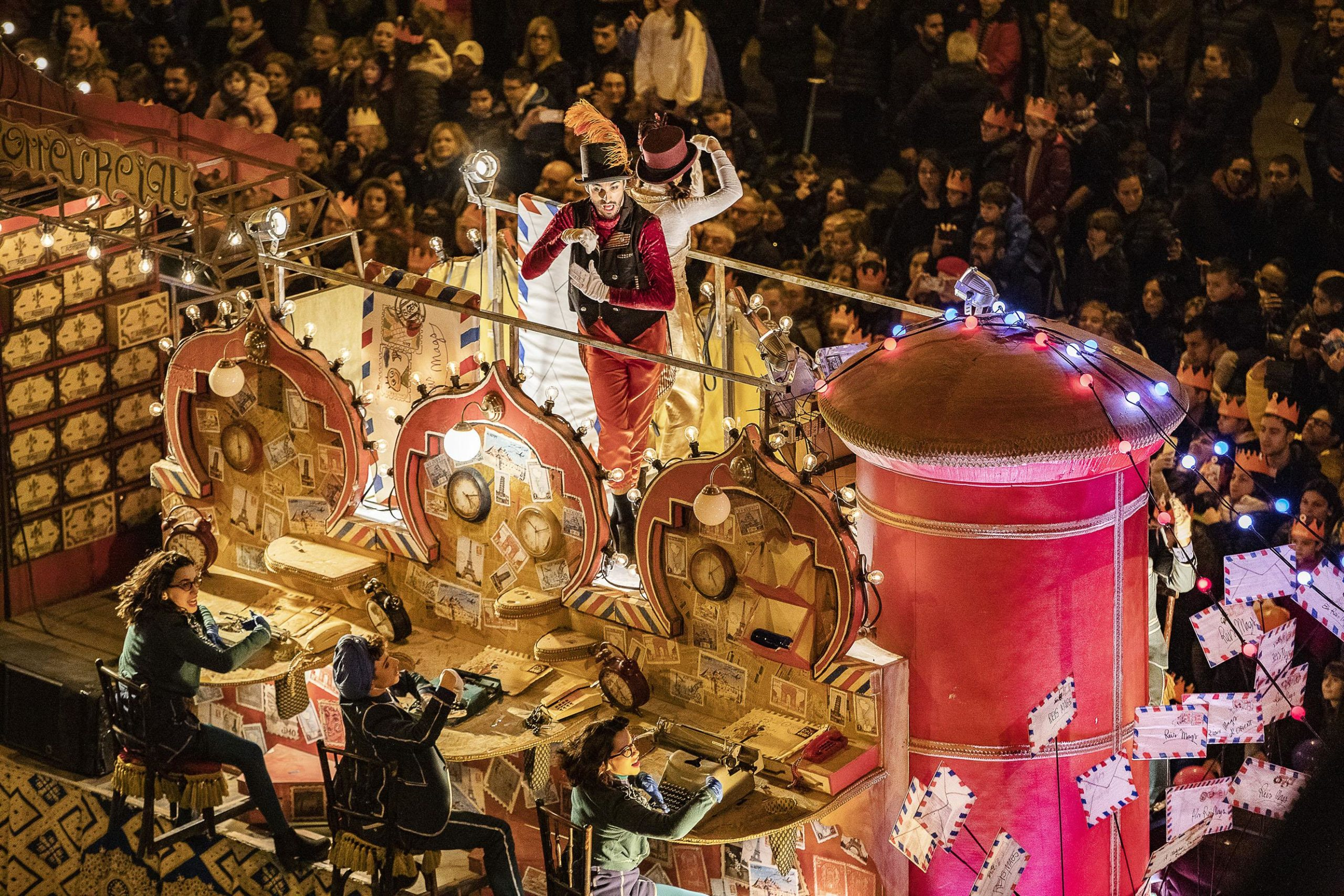 Una carrossa de la cavalcada dels Reis Mags de l'any passat / Jordi Play