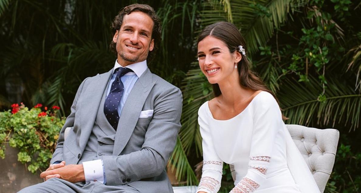 Feliciano López i Sandra Gago, el dia de la seva boda / Instagram