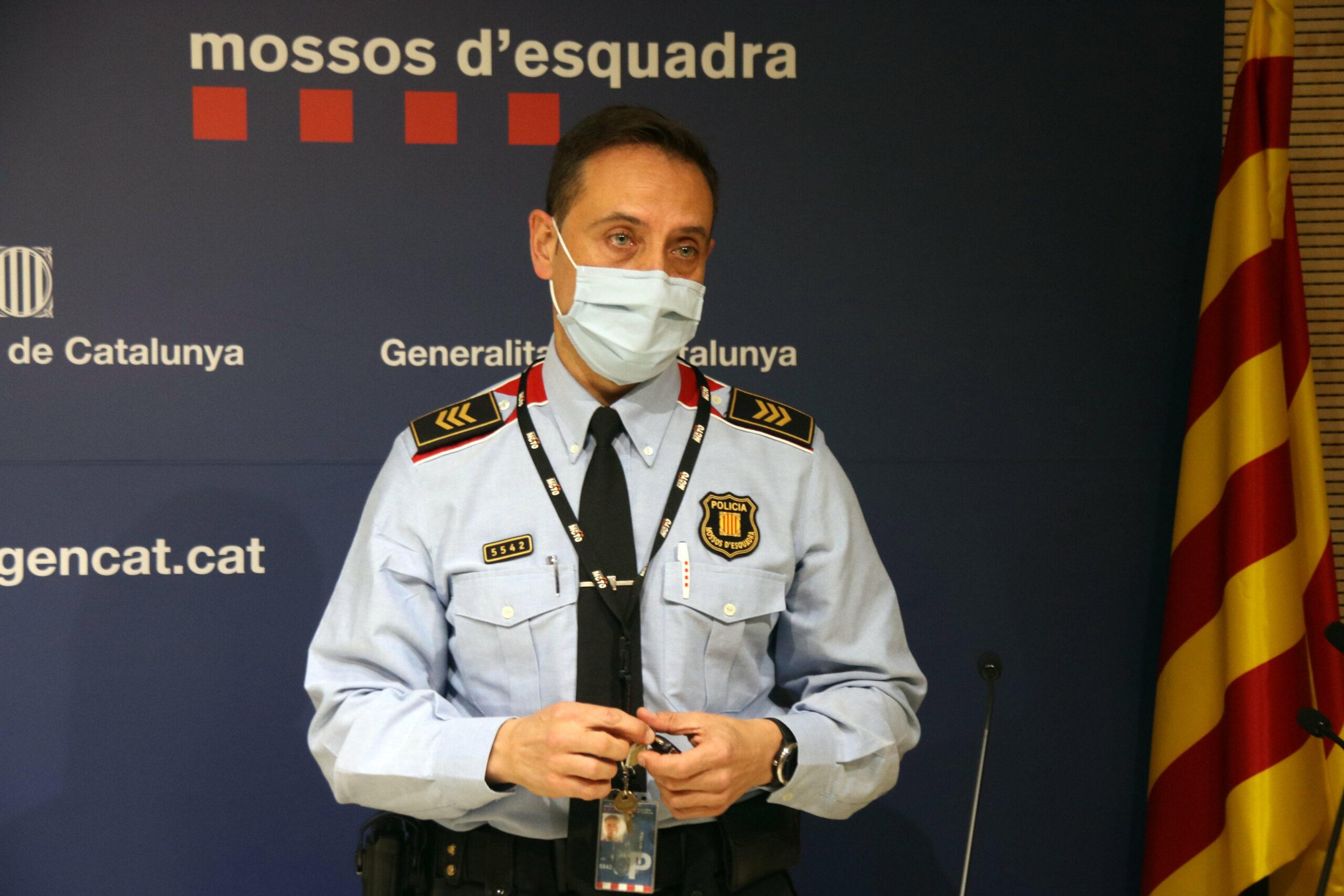 El sotsinspector Sergi Martínez, sotscap de l'Àrea tècnica de proximitat i seguretat ciutadana | ACN