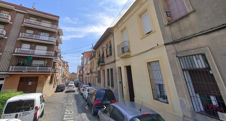 Carrer Agustín Argüelles, de Mataró, on es va produir la detenció / Google Street View