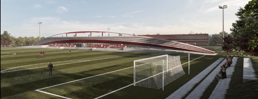 Simulació de la nova ciutat esportiva de la Fundació Damm, que preveu inaugurar l'any 2023 | Damm