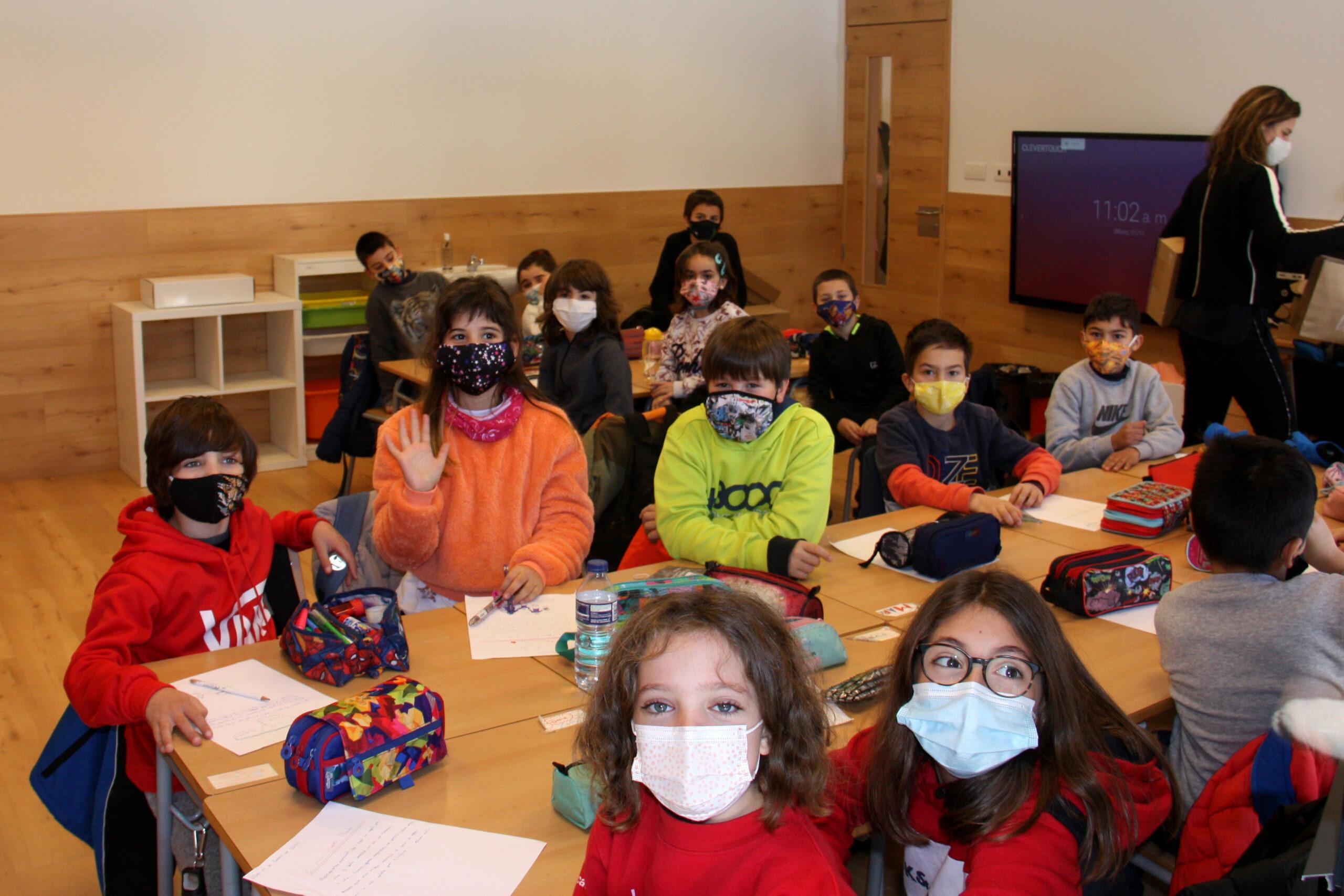 Alumnes de l'Escola Jaume I de Llívia (Cerdanya)   ACN