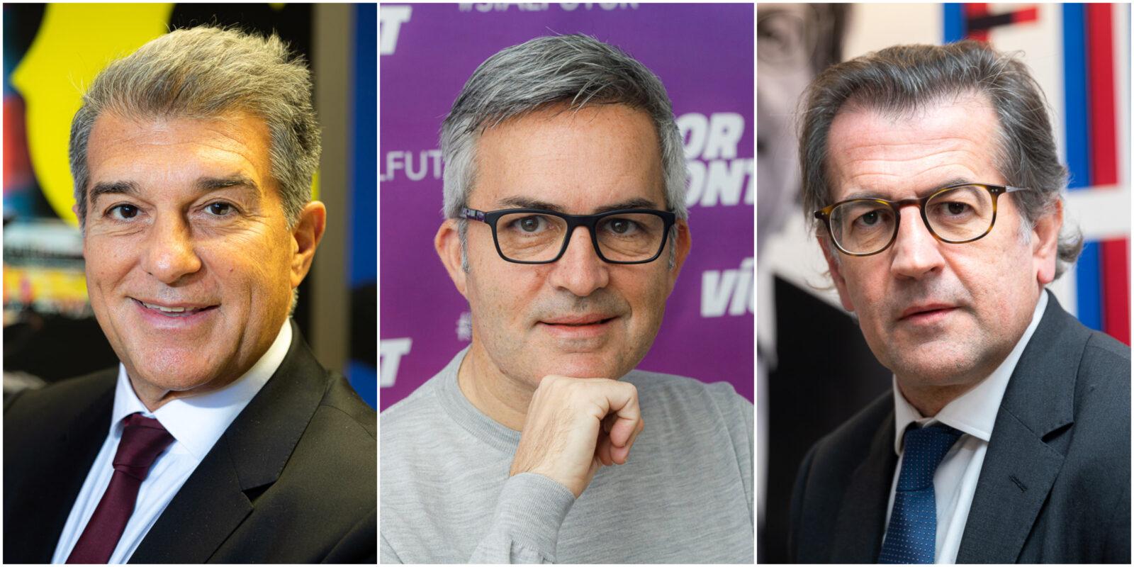 Joan Laporta, Víctor Font i Toni Freixa, candidats a les eleccions del Barça | El Món