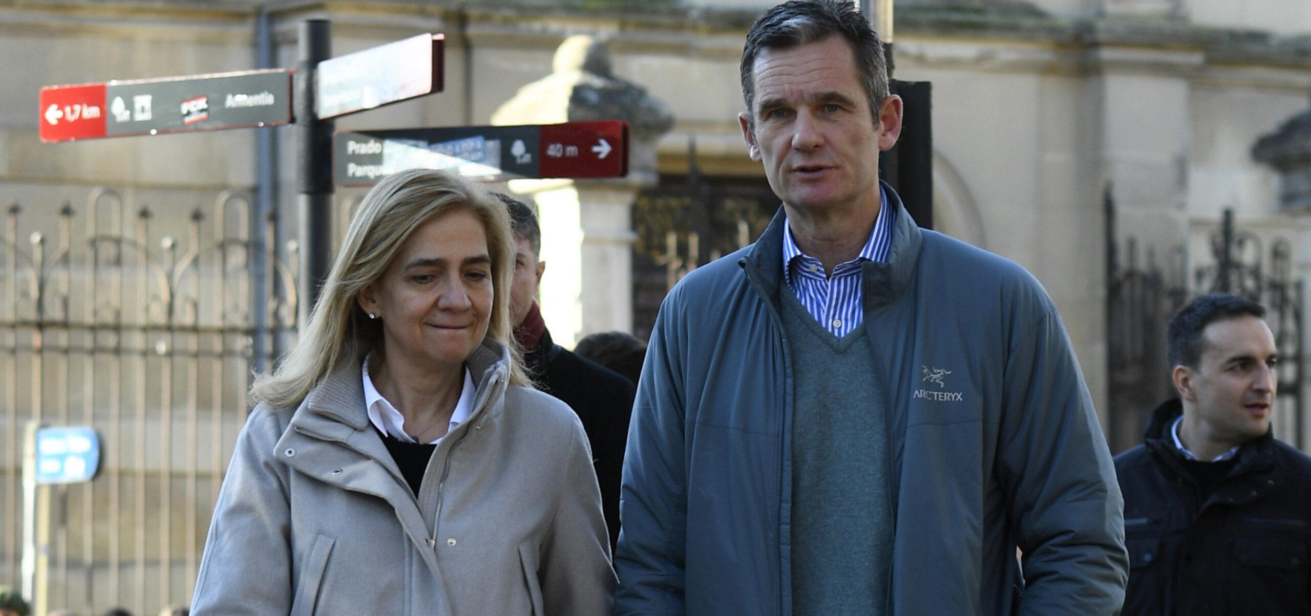 Cristina de Borbó i Iñaki Urdangarin, de passeig per Vitòria / Europa Press