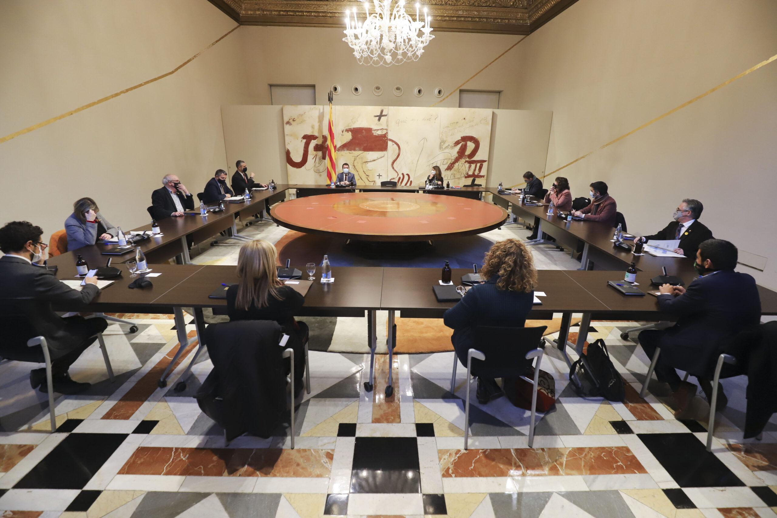 Consell executiu extraordinari en què s'ha aprovat l'ajornament electoral Ruben Moreno