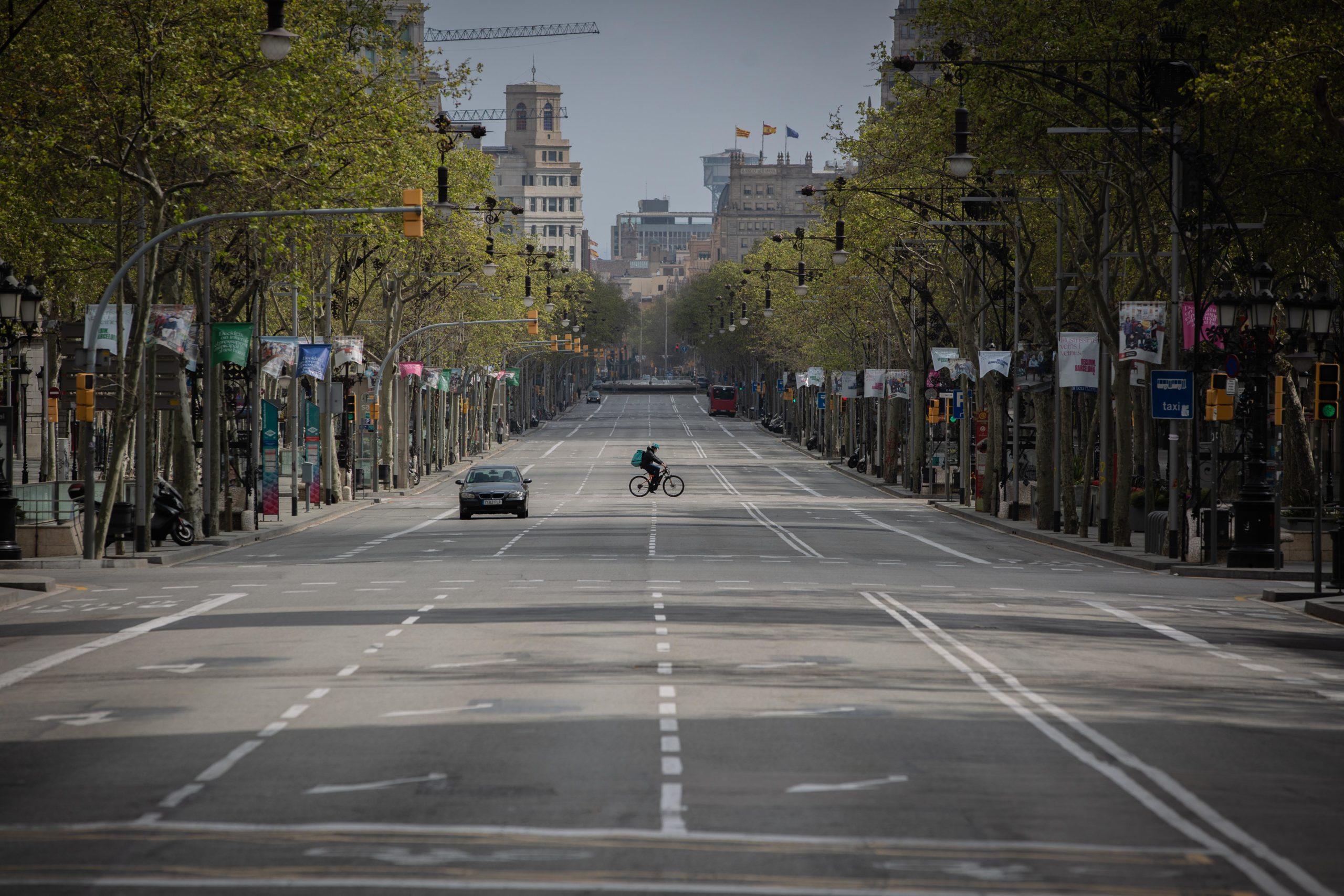 Passeig de Gràcia desert en ple confinament / Europa Press