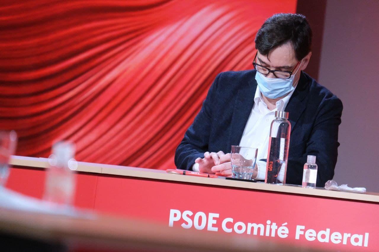 Salvador Illa al comitè federal del PSOE a Barcelona / PSC