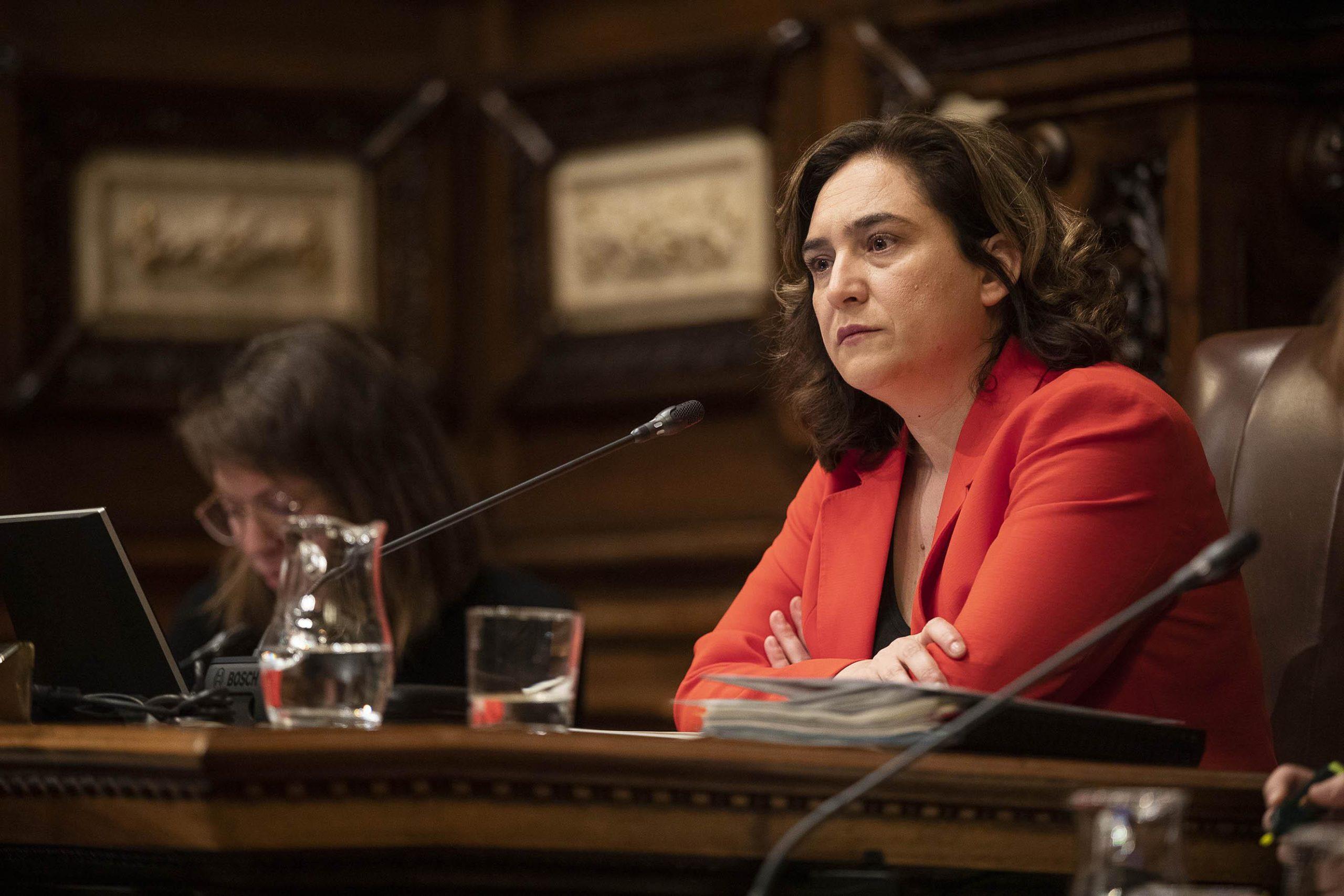 L'alcaldessa Ada Colau al ple de l'Ajuntament, en imatge d'arxiu / Jordi Play