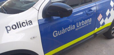 Un vehicle de la Guàrdia Urbana de Vic