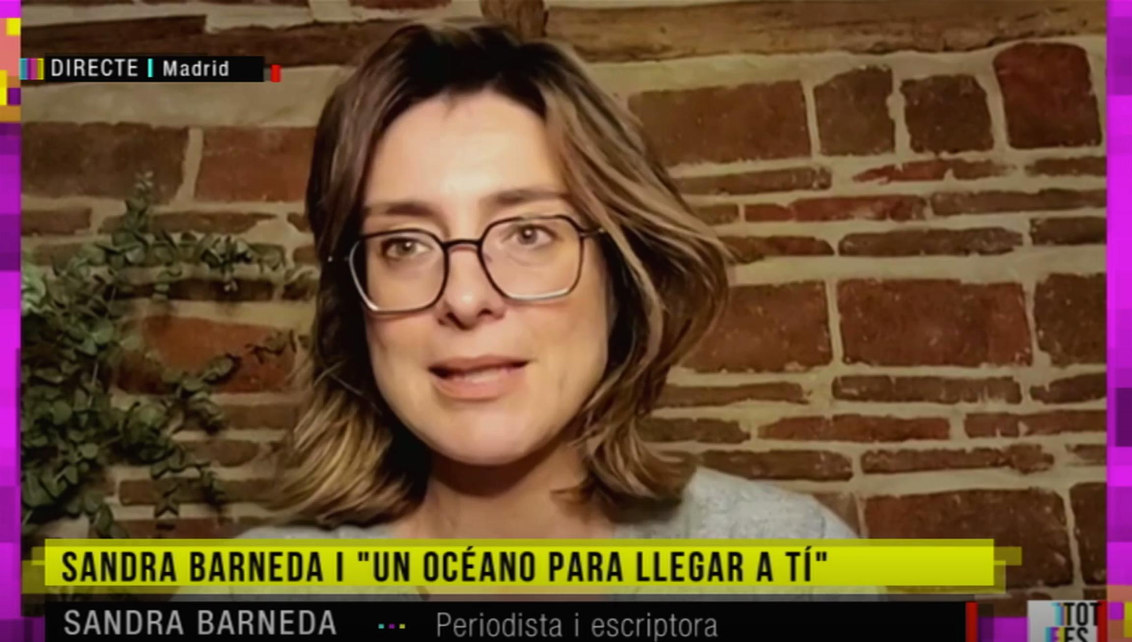 Sandra Barneda, entrevistada a 'Tot es mou' / TV3