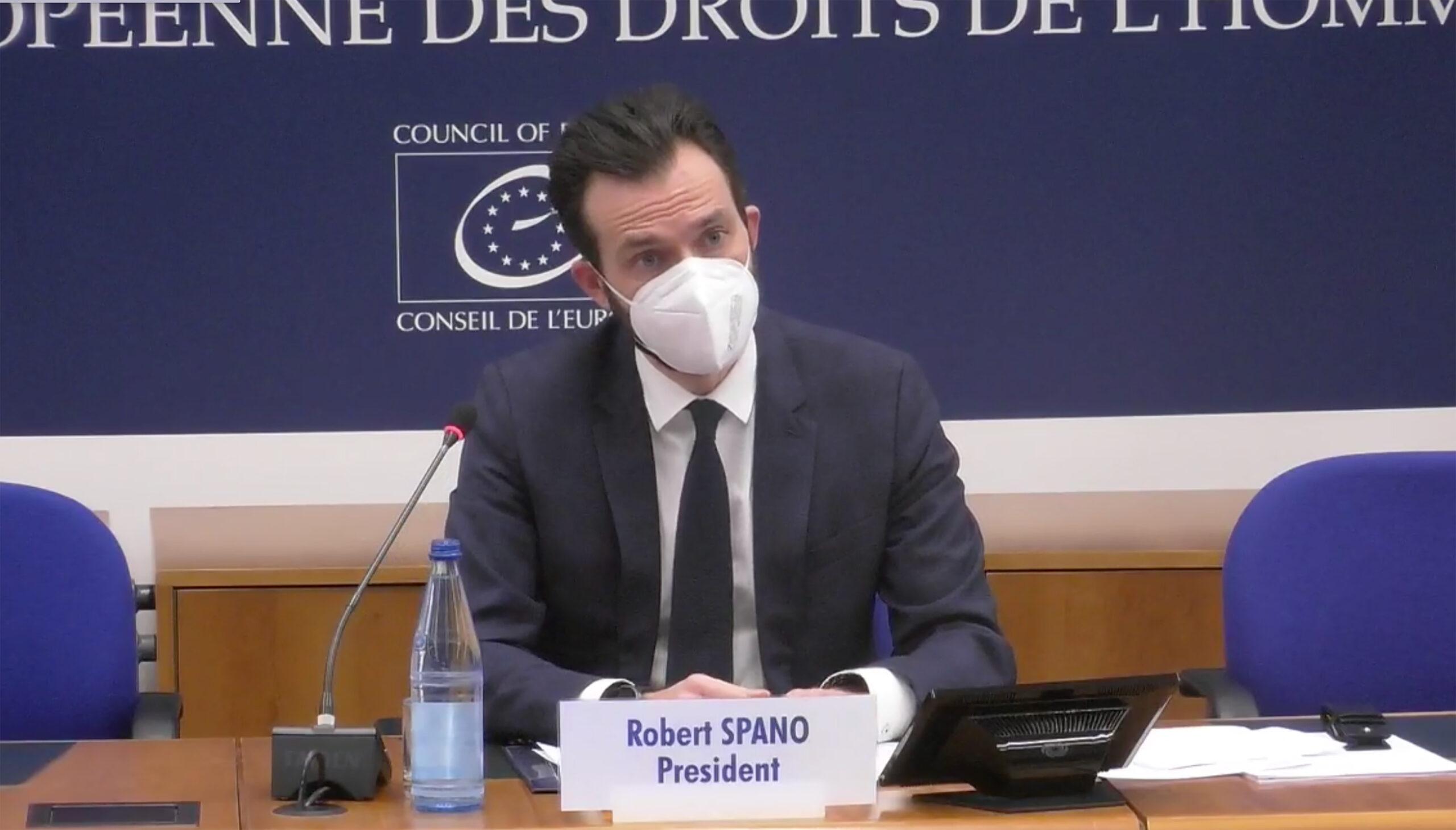 El president del Tribunal Europeu de Drets Humans (TEDH), Robert Spano | ACN