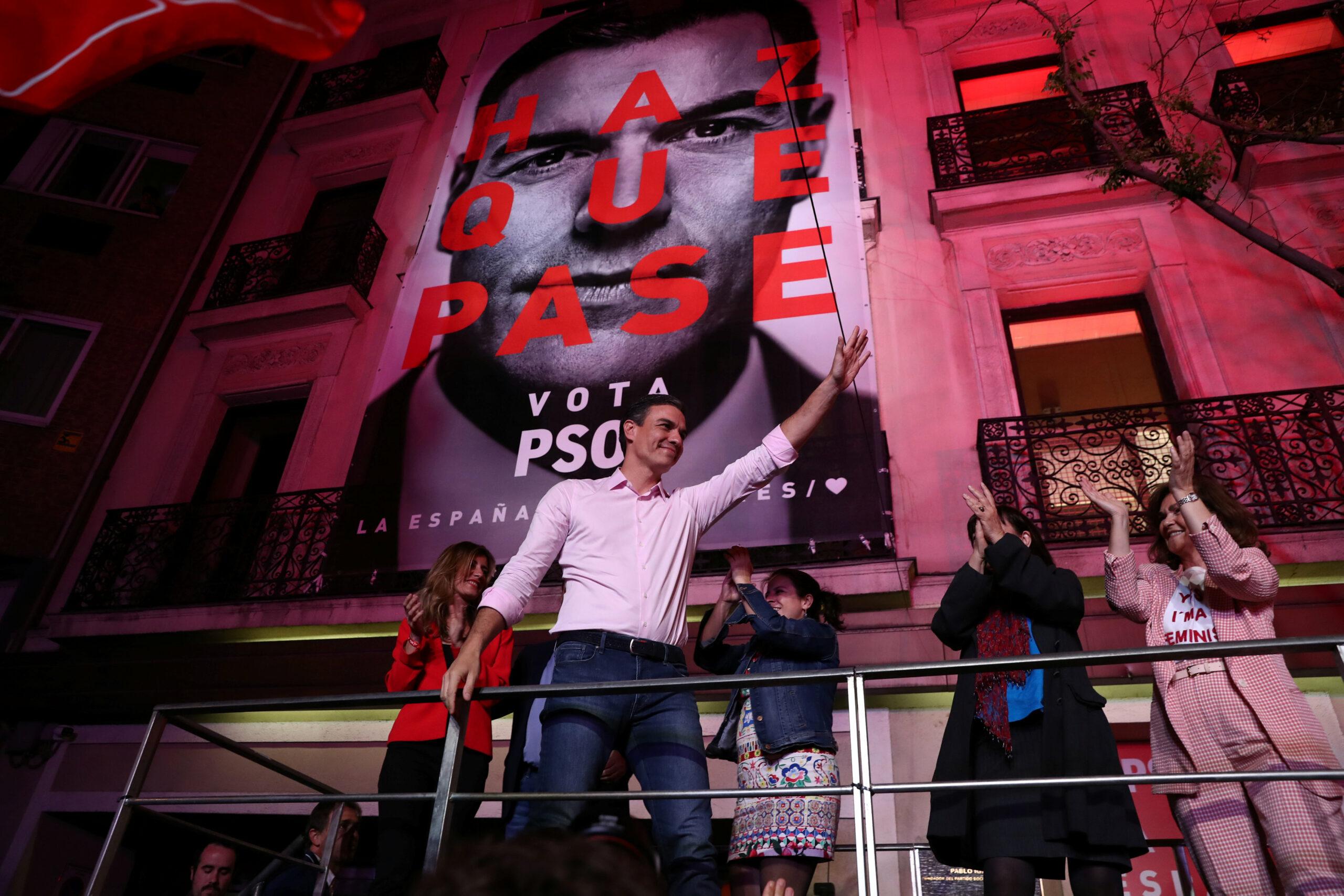 Pedro Sánchez després d'haver guanyat les eleccions d'abril del 2019 | ACN