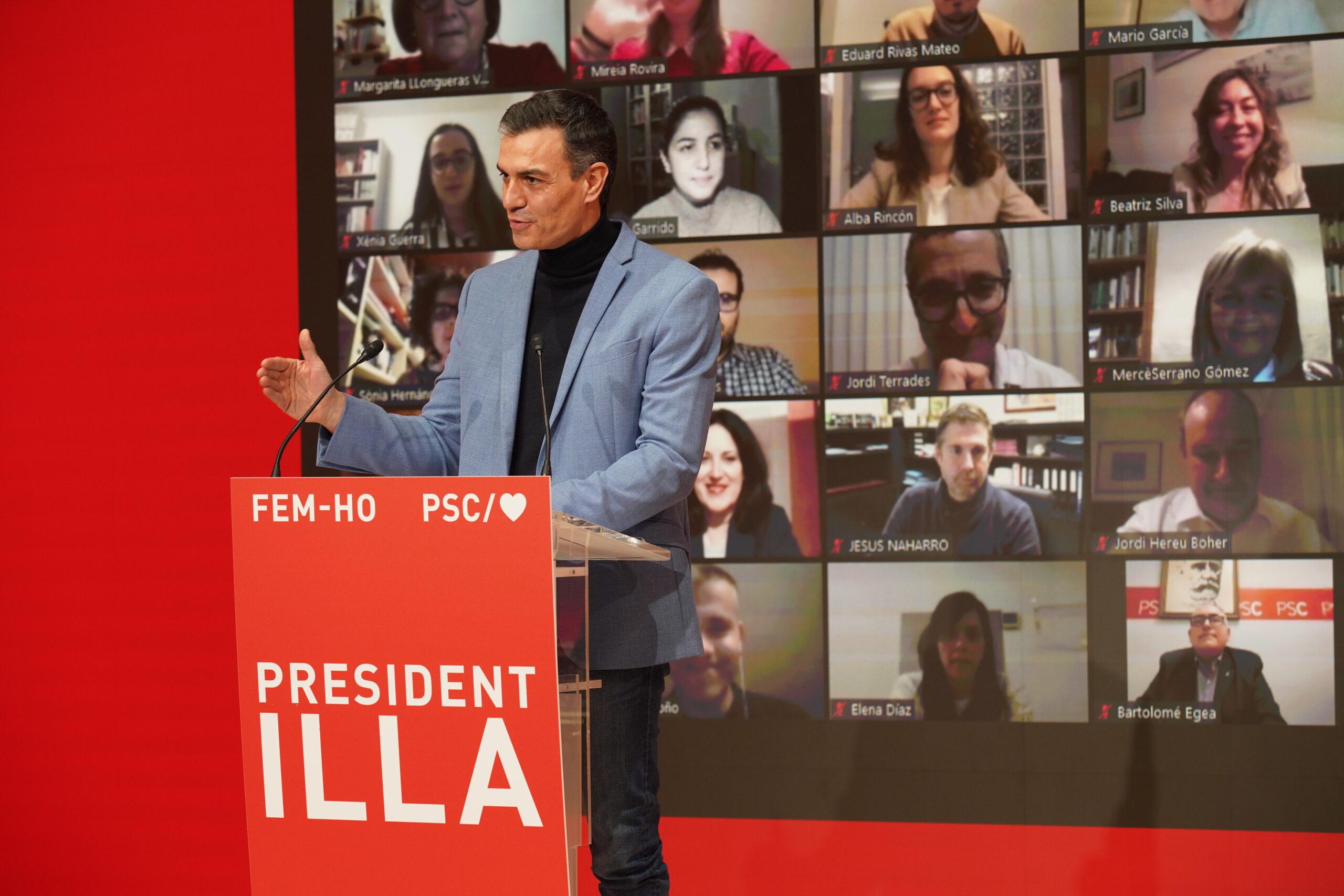 Pedro Sánchez, en l'acte obertura de campanya del PSC