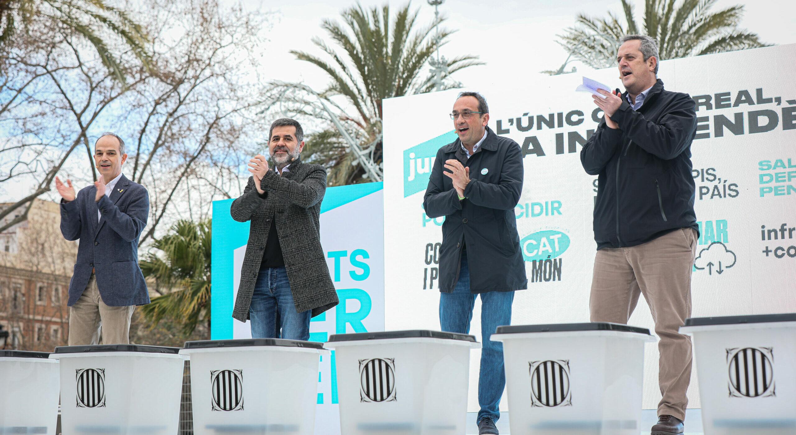 Els presos polítics al míting de JxCAT / Jordi Borràs