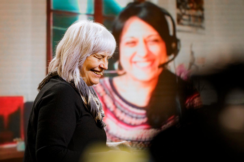 La candidata de la CUP, Dolors Sabater, durant un acte polític | ACN