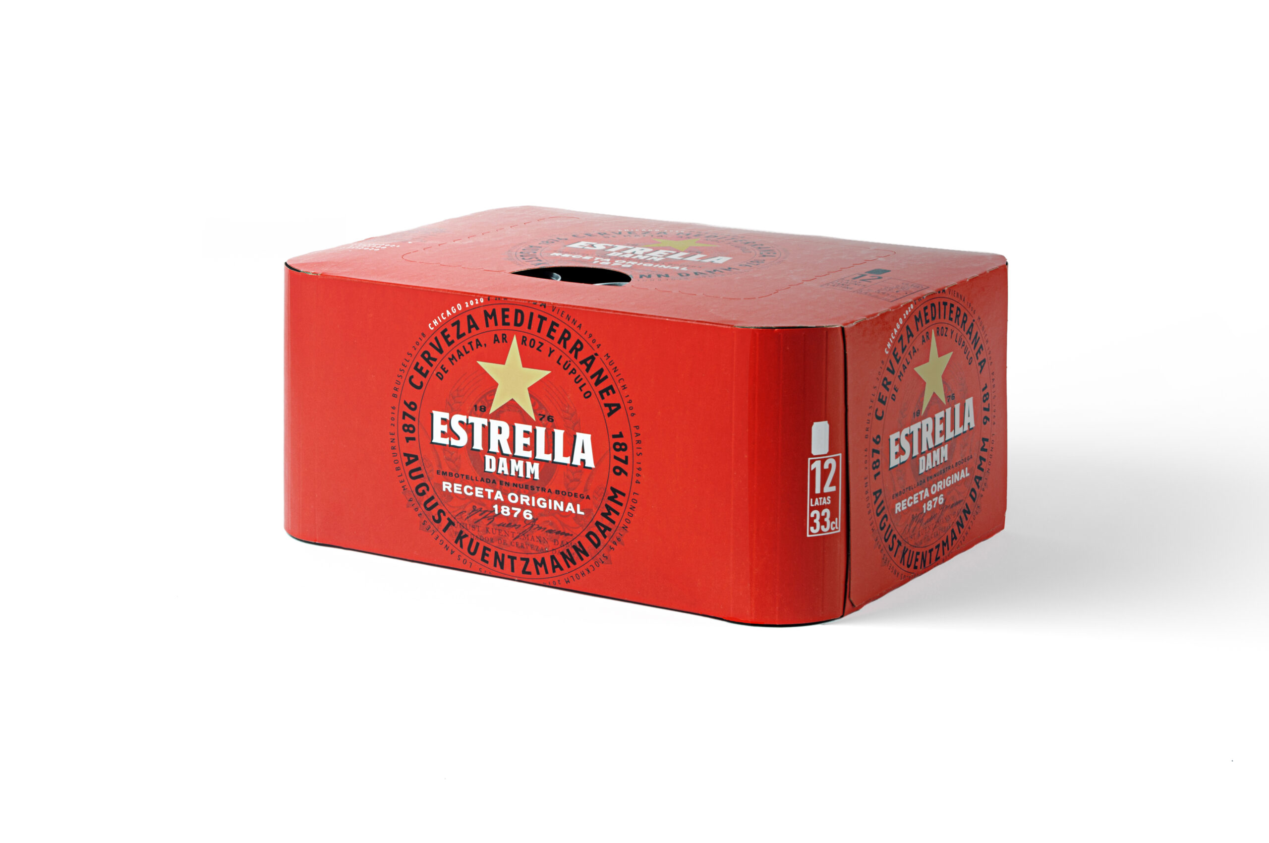 Pack Estrella Damm sense plàstics decoratius