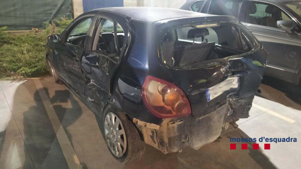 El vehicle amb el que circulava el detingut a Mollet del Vallès | ACN