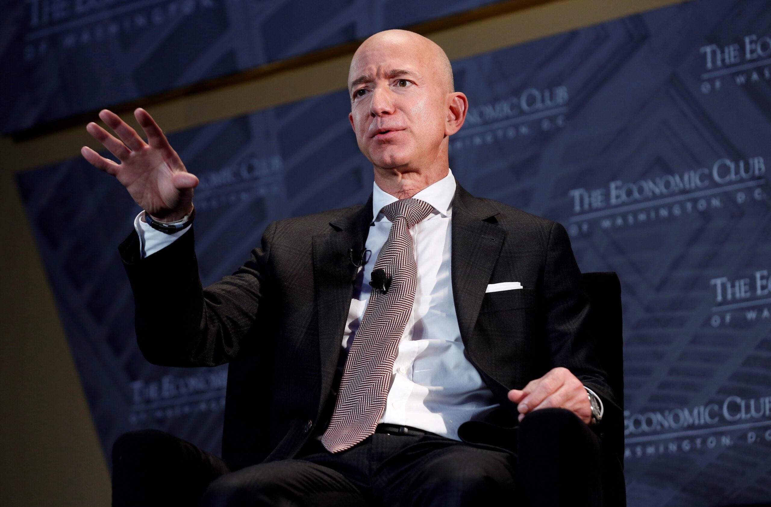 El president i conseller delegat d'Amazon, Jeff Bezos, durant una xerrada a Washington en una fotografia d'arxiu | Reuters