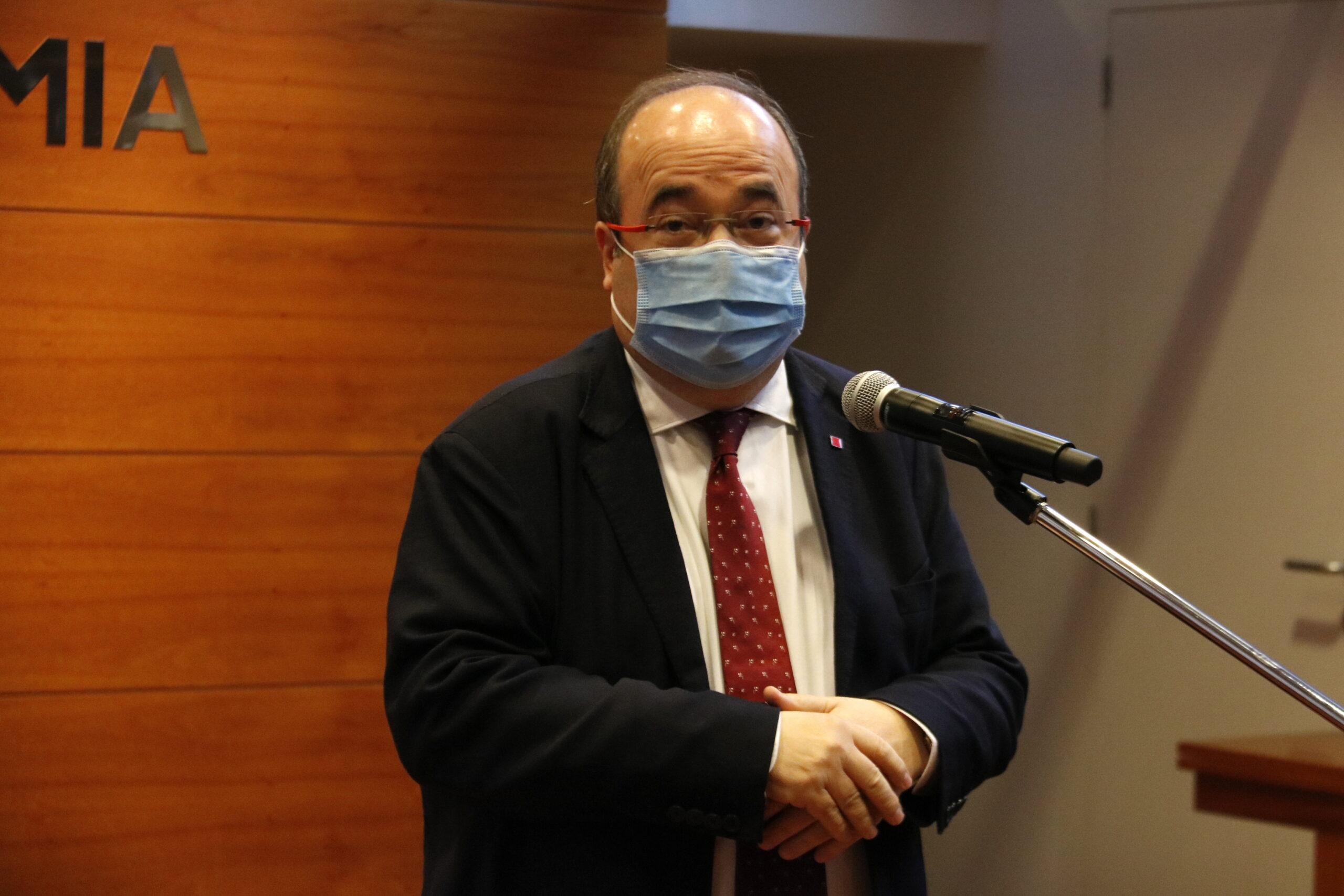 El ministre de Política Territorial, Miquel Iceta | ACN