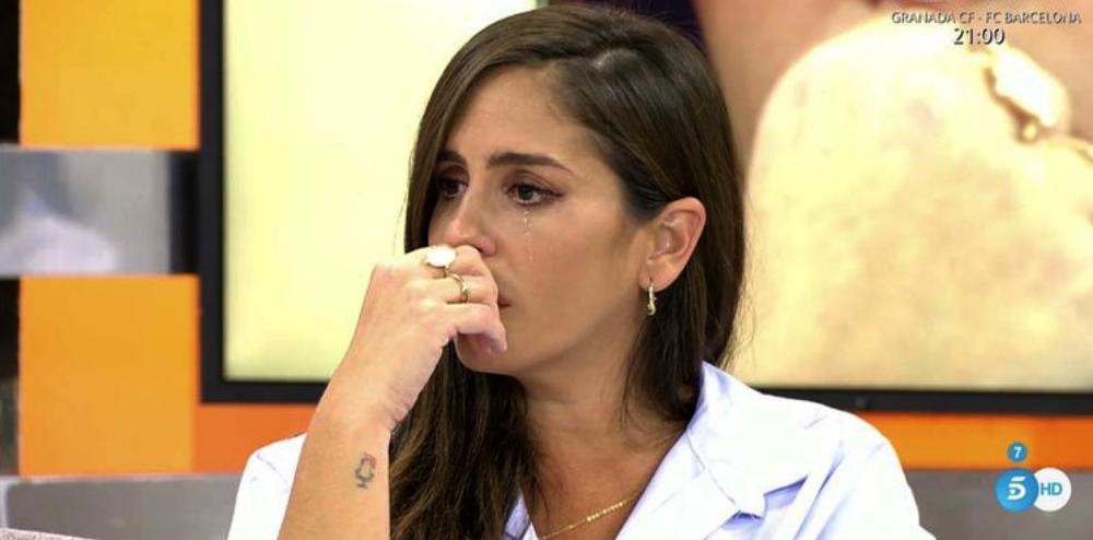 Anabel Pantoja plora en directe a 'Sálvame' / Telecinco