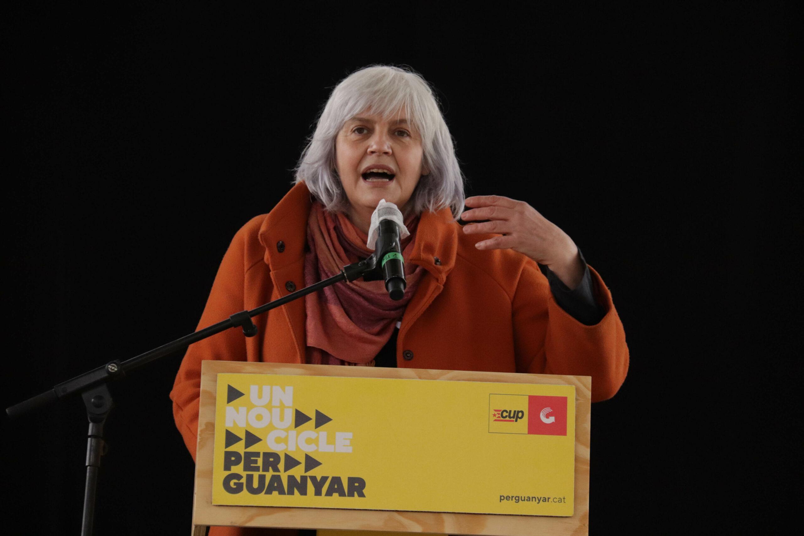 La candidata de la CUP a la presidència de la Generalitat, Dolors Sabater | ACN