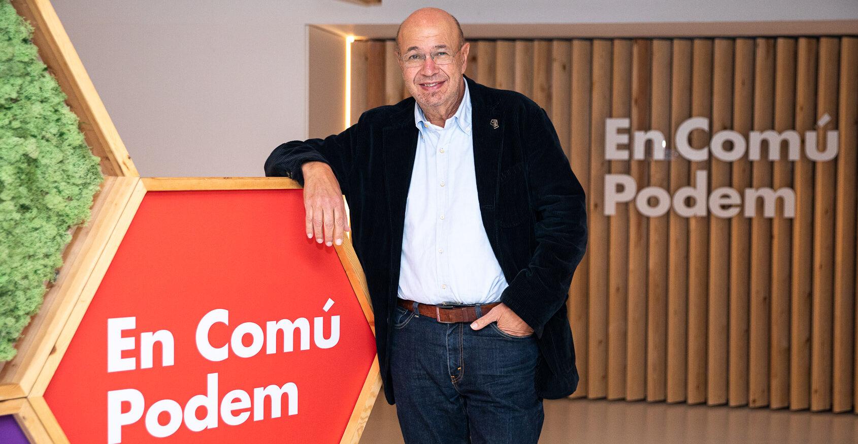El número dos d'En Comú Podem, Joan Carles Gallego JORDI BORRÀS