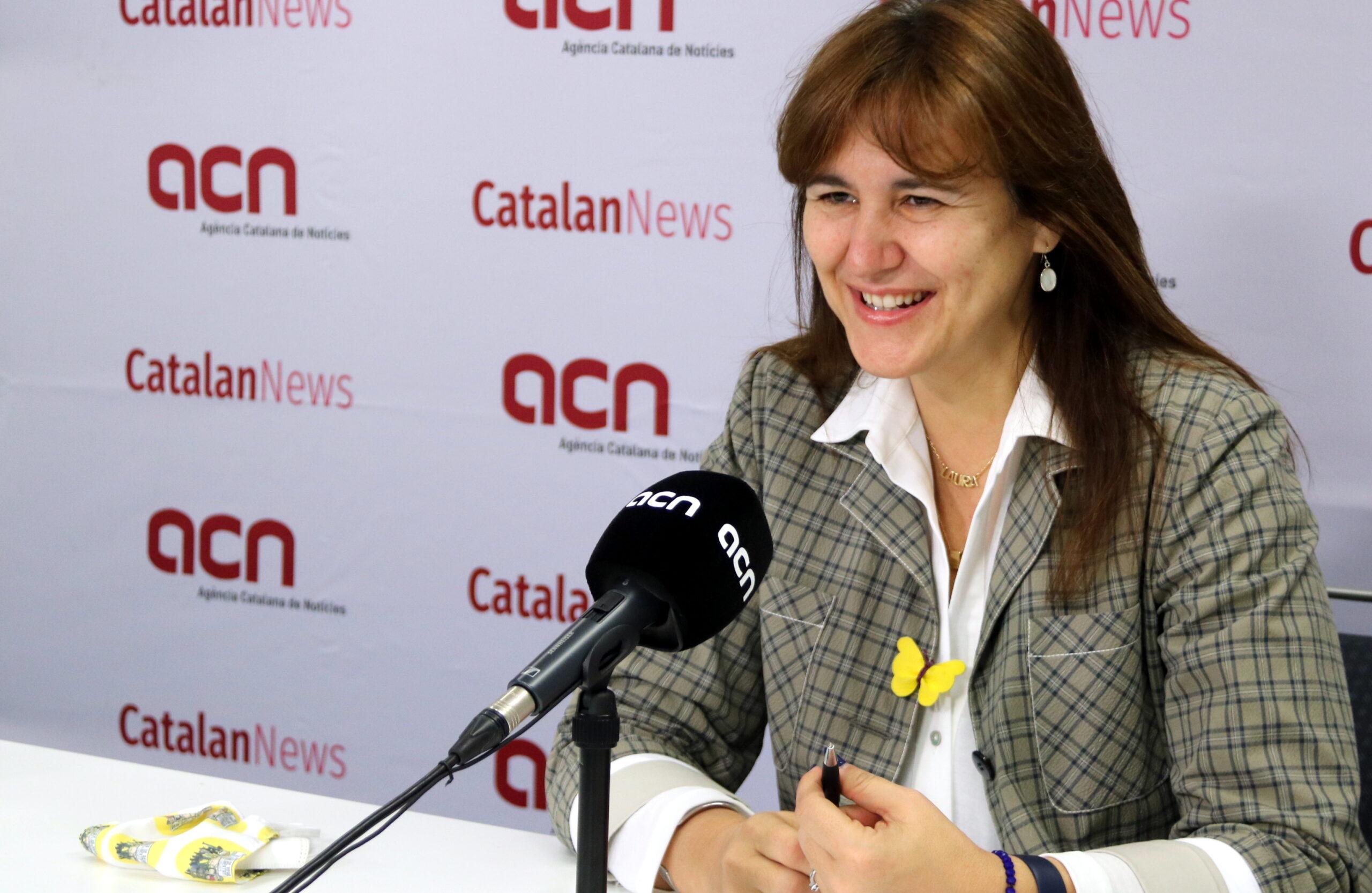 La candidata de JxCat al 14-F, Laura Borràs   ACN