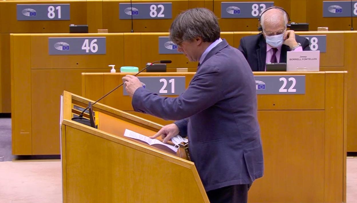 Puigdemont i Borrell, aquesta tarda al plenari del Parlament Europeu