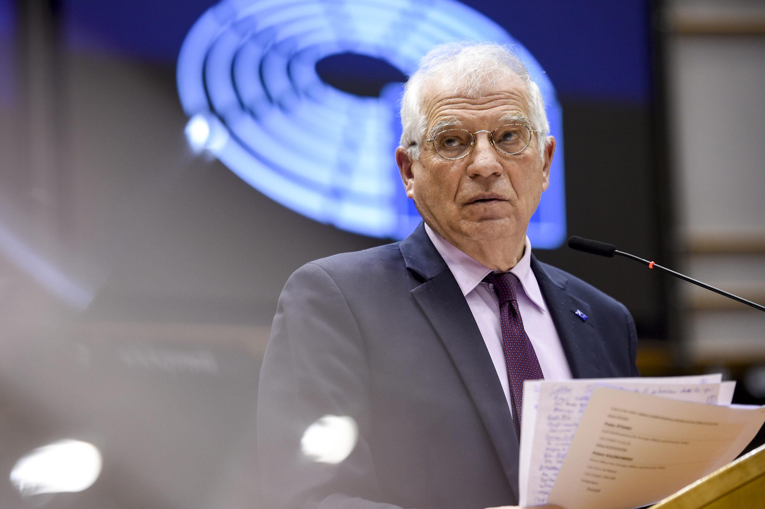 L'Alt Representant de la UE, Josep Borrell, durant la compareixença al ple de l'Eurocambra sobre la visita a Rússia el 9 de febrer del 2021, a Brussel·les. / ACN