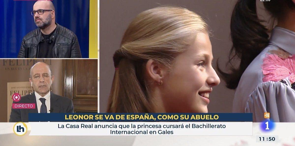 """El rètol de TVE que deia que """"Leonor marxa d'Espanya com el seu avi"""""""