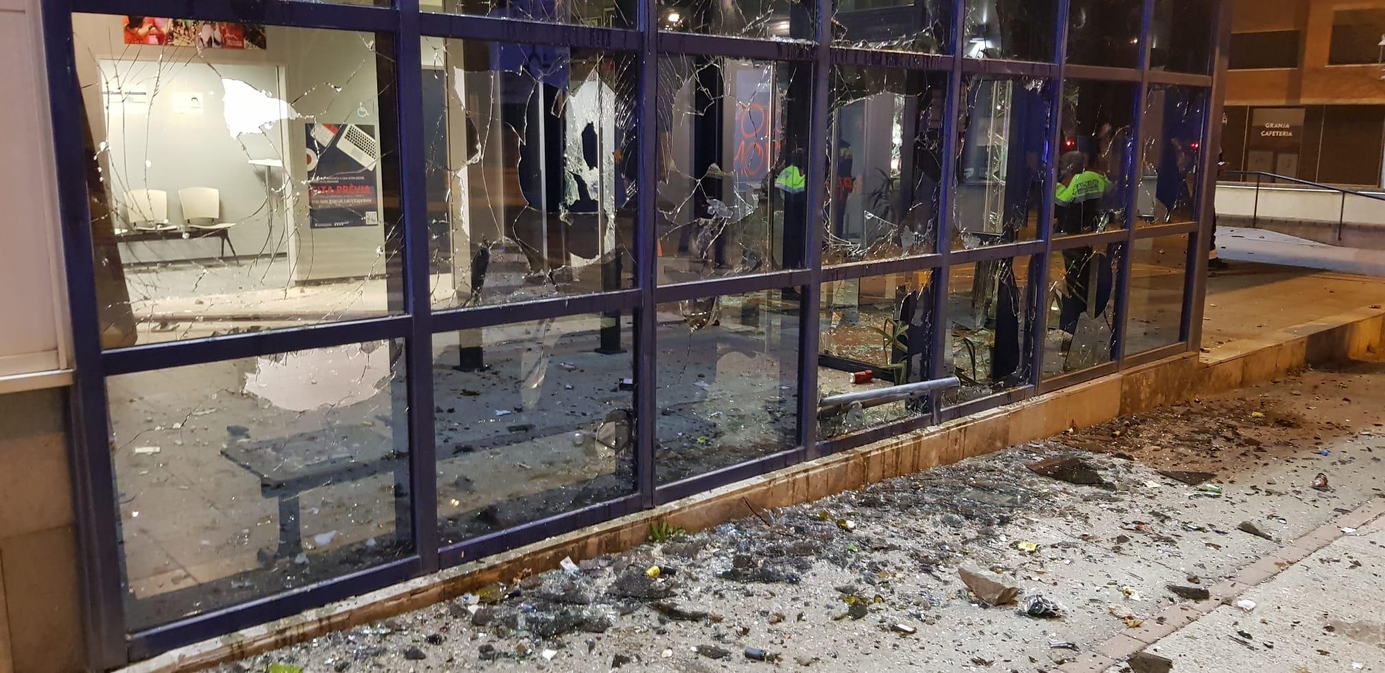Una imatge de l'atac a al comissaria/SPC
